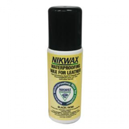 NIKWAX Waterproofing Wax for Leather 125ml with sponge black