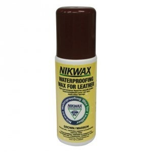 NIKWAX Waterproofing Wax for Leather 125ml with sponge brown