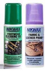Zestaw NIKWAX Footwear Cleaning Gel + Fabric and Leather Proof 2x125ml