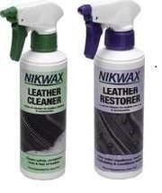 Zestaw NIKWAX Leather Cleaner + Leather Restorer Spray-on 2x300ml do skóry